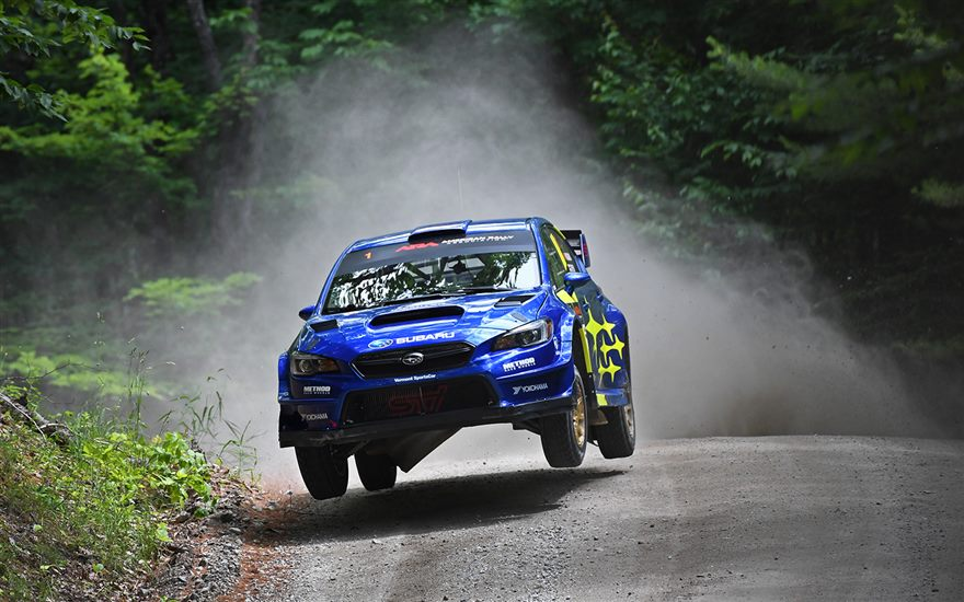 Subaru and David Higgins Take Win at New England Forest Rally