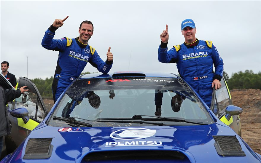 Subaru Driver David Higgins Secures Tenth U.S. Rally Championship