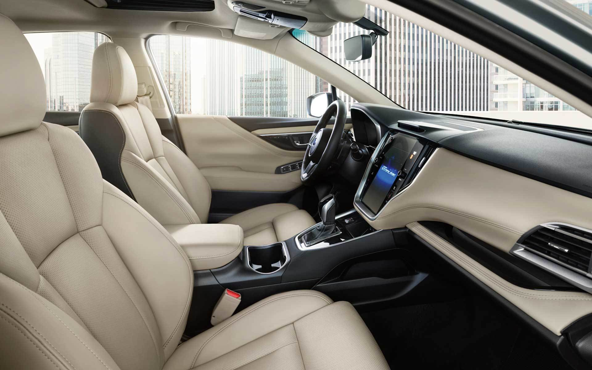 Subaru Image: Limited interior shown in Warm Ivory Leather