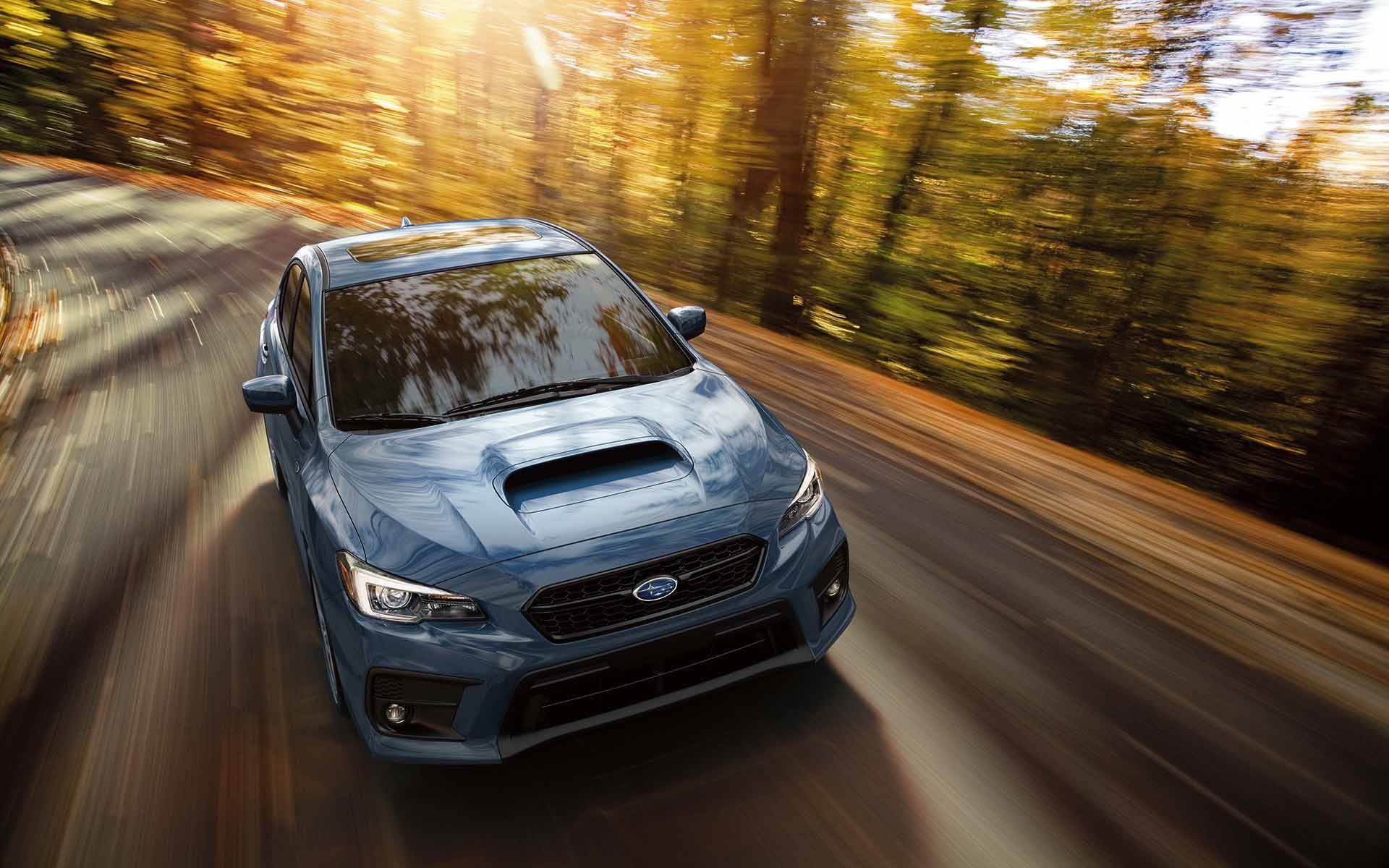 Subaru Image 2018 Wrx Limited With 50th Anniversary Special Edition Package Shown In Heritage Blue