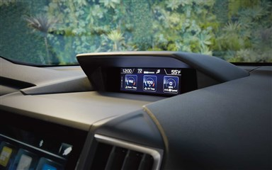 Subaru Image: Available 6.3-inch high-definition color multi-function display