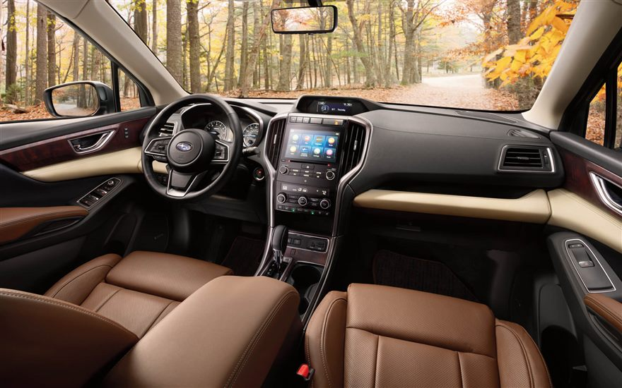 Subaru Image Touring Interior Shown In Java Brown Leather