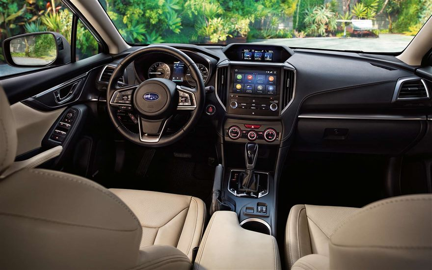 Subaru Image 2 0i Limited Interior Shown In Ivory Leather With Optional Equipment