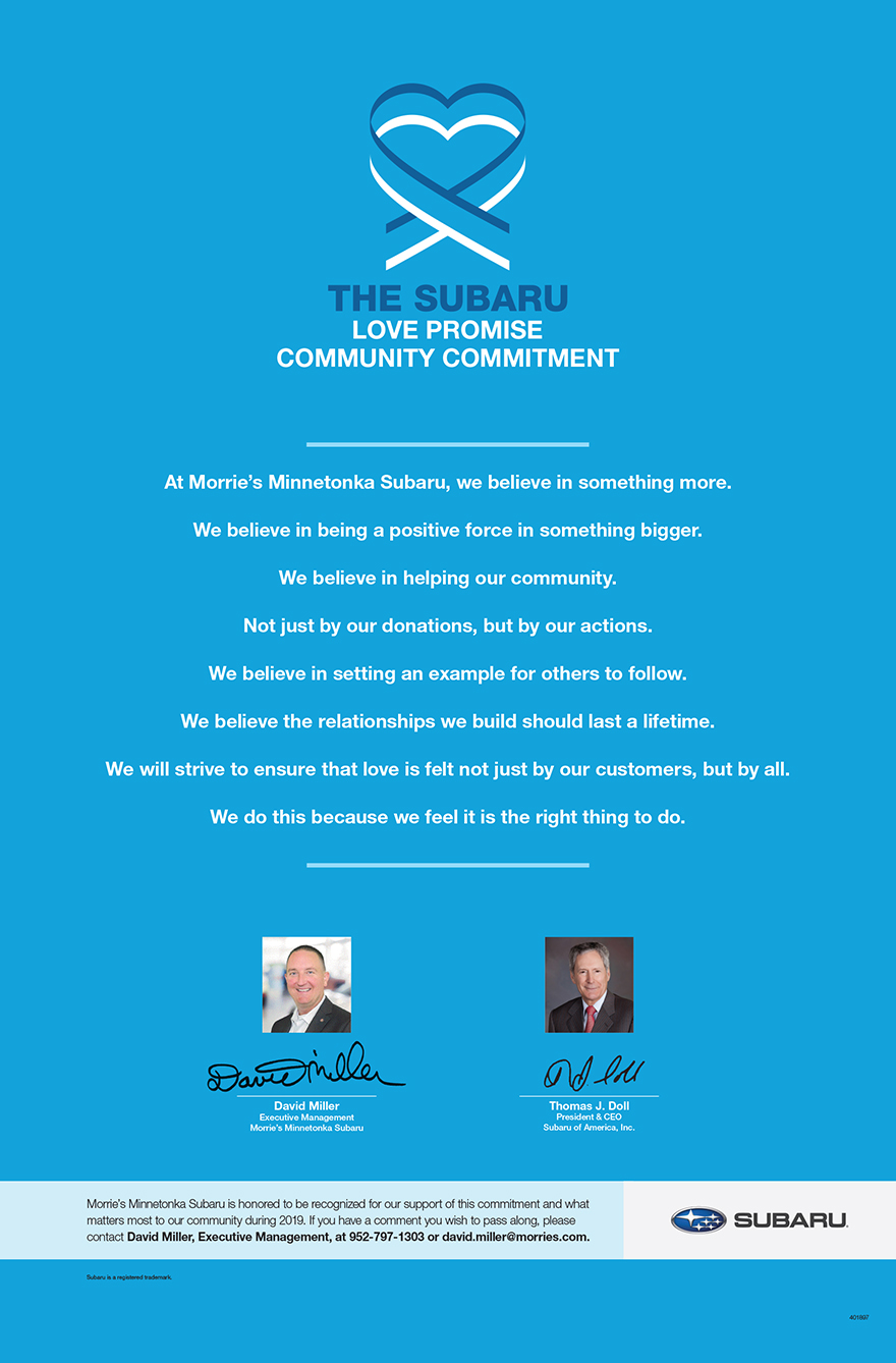 The Subaru Love Promise - Community Commitment