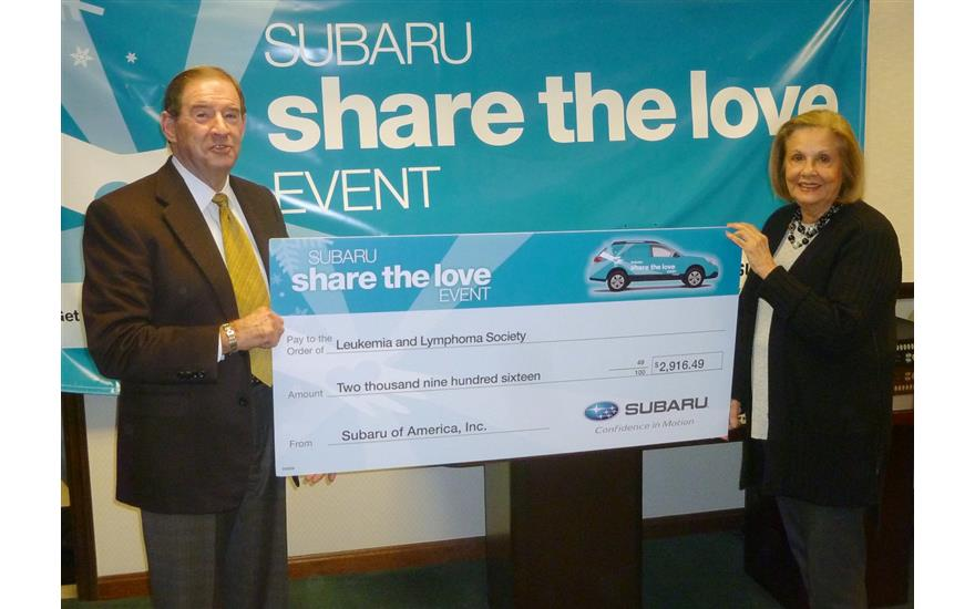 Bowser Subaru Partners with The Leukemia & Lymphoma Society
