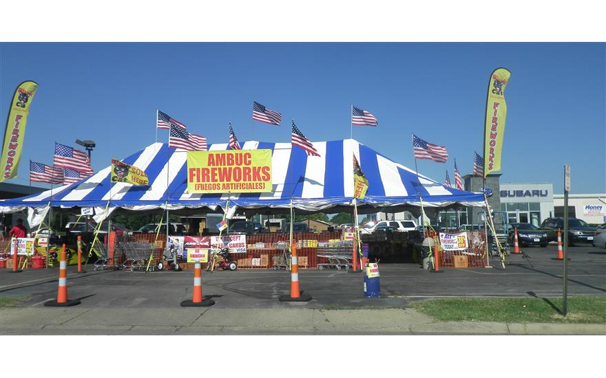 Money Subaru sponsors community firework stand