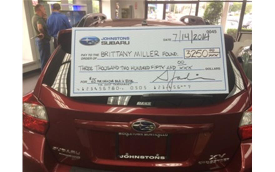 Johnstons Subaru charity of the month