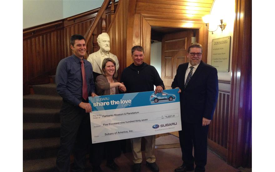 Fairbanks Museum and Planetarium receives funding thanks to Saint J Subaru's