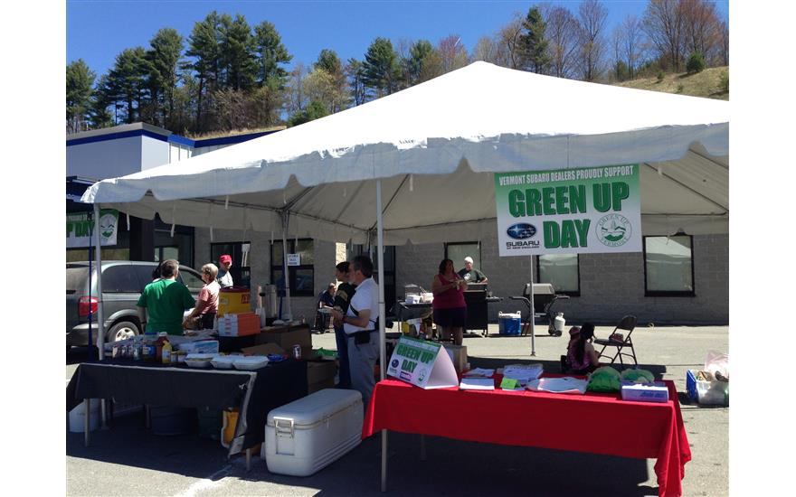 Saint J Subaru works with Green Up Vermont
