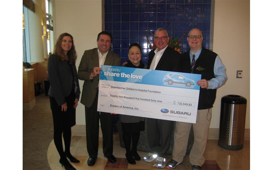 Wentworth Subaru partners with Doernbecher Children's Hospital for