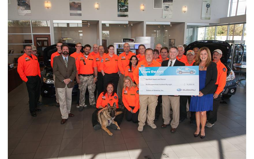 Subaru of Las Vegas Supports Red Rock Search and Rescue's Mission