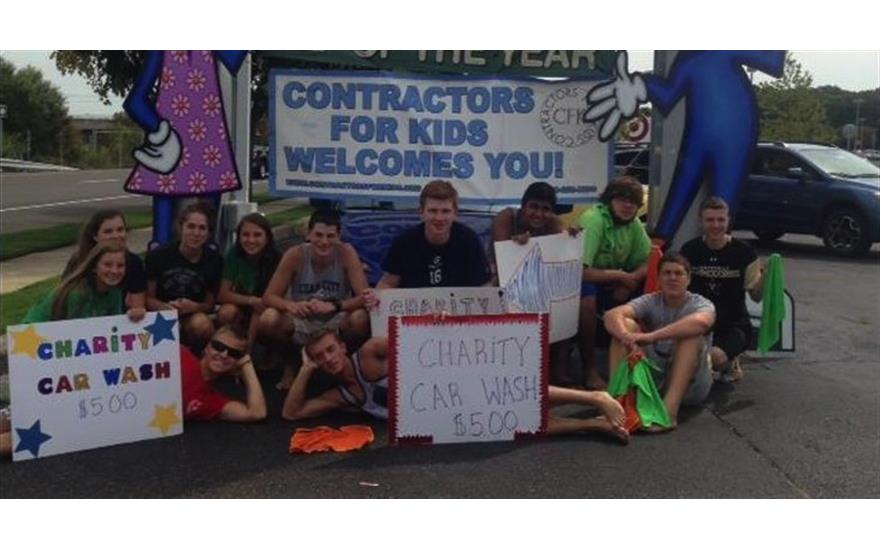 Fundraising Car Wash With Contractors for Kids