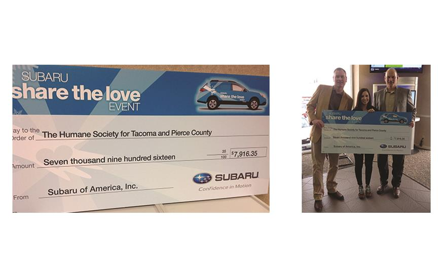 Share The Love With Humane Society of Tacoma and Pierce County