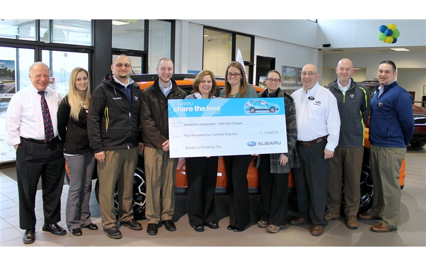 Yark Subaru Partners With Alzheimer's Association, Northwest Ohio Chapter