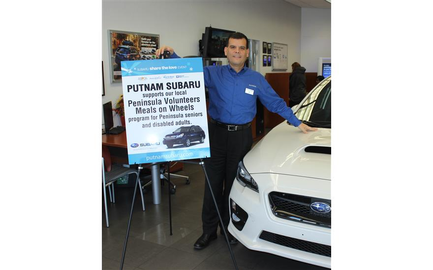 Putnam Subaru Sponsors Peninsula Volunteers Meals on Wheels Program