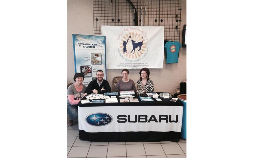 Subaru South Blvd Hosts Toy Drive For The Shelter Pet Enrichment Fund
