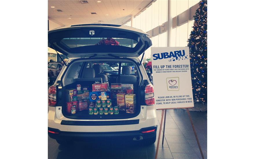 Subaru of Plano Hosts Food Drives For