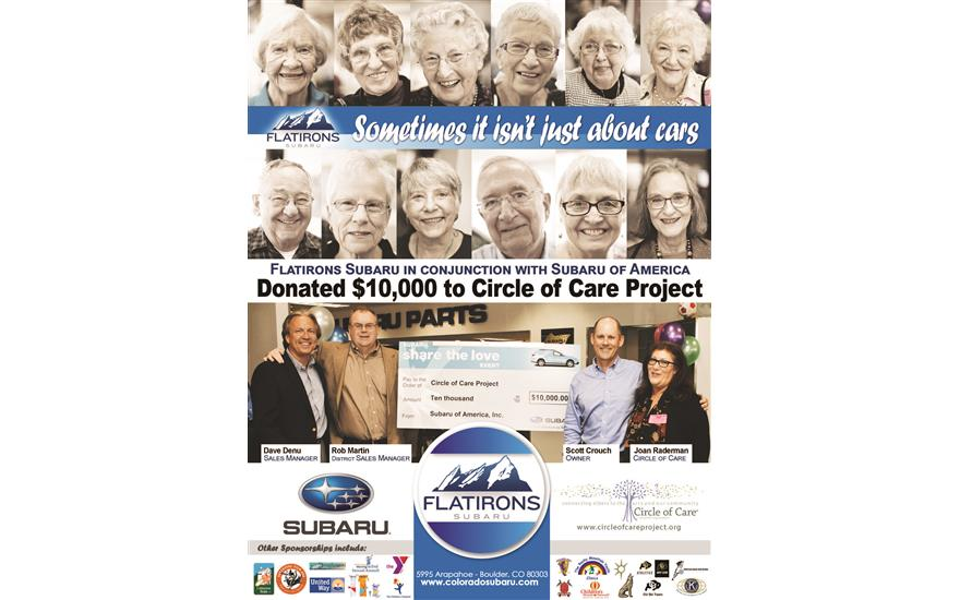 Flatirons Subaru Supports Circle of Care Project