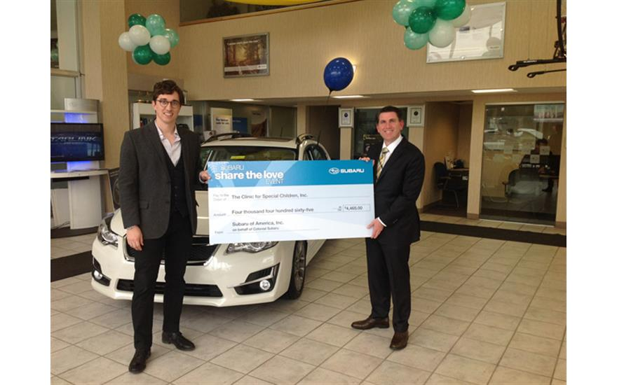 Colonial Subaru Dealership Gives CSC Donation