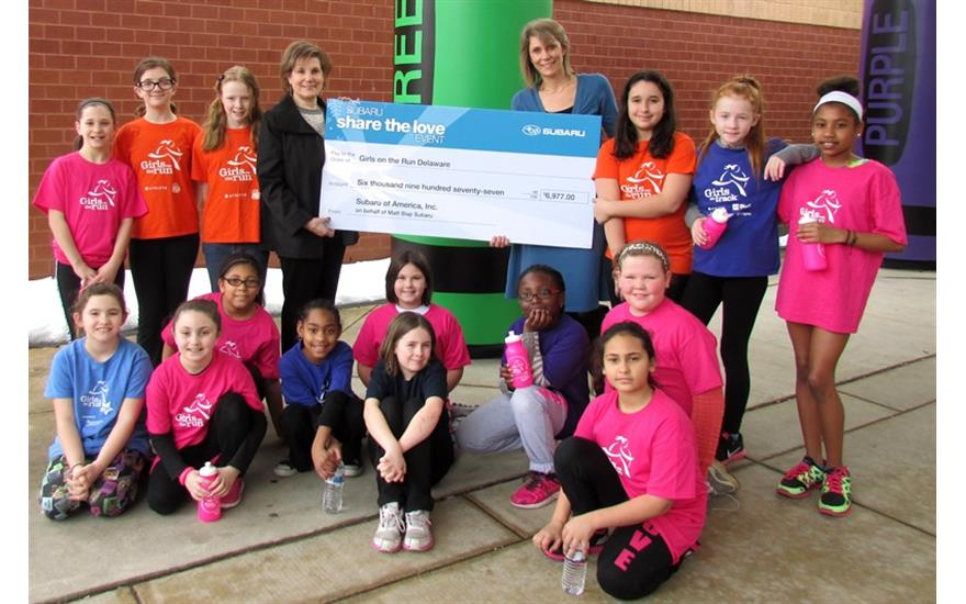Girls on the Run Delaware Check Presentation