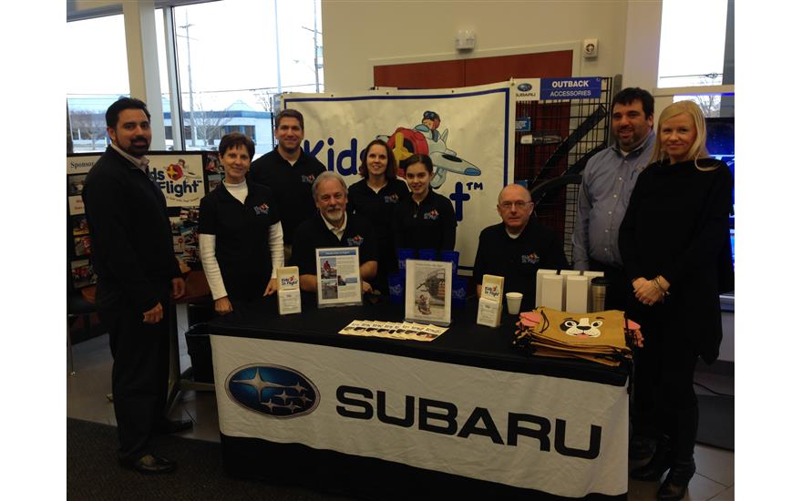 Kids in Flight visits Ganley Westside Subaru