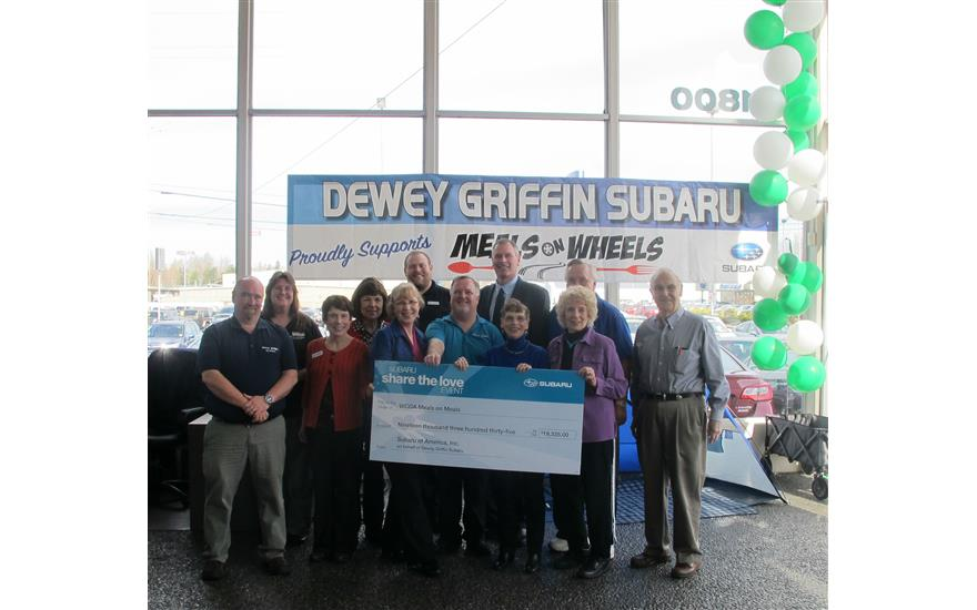 Share the Love Check Presentation - March 13, 2015