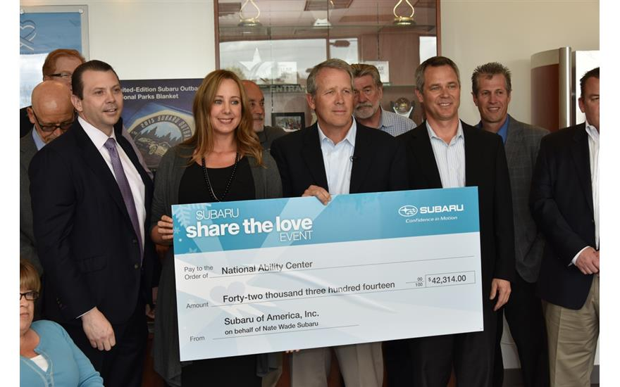 Nate Wade Subaru Donates Thousands to the NAC