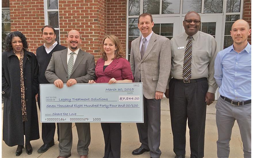 $7,844 Donation To Legacy Treatment Services