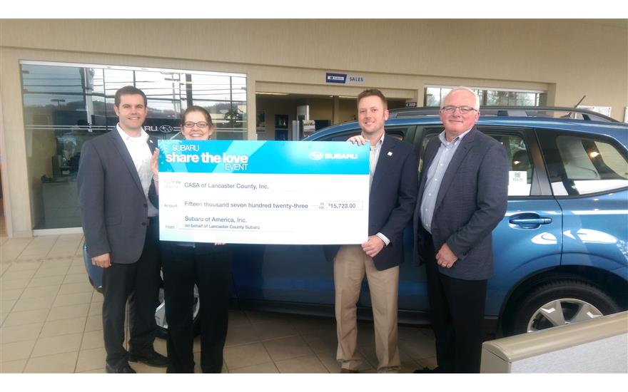 Lancaster County Motors Subaru Lifts Up CASA