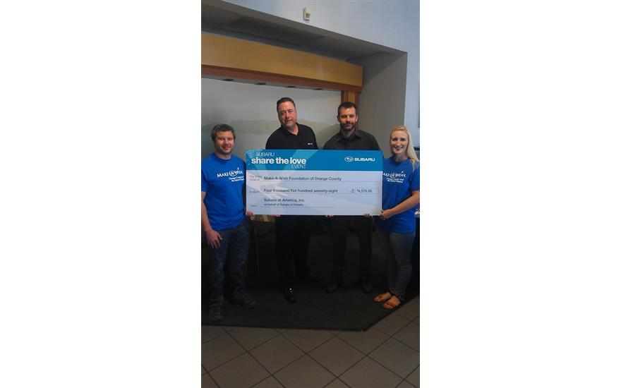 Subaru of Ontario Helps Local Wish Kids