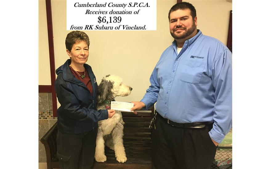 RK Subaru Donates to Local SPCA