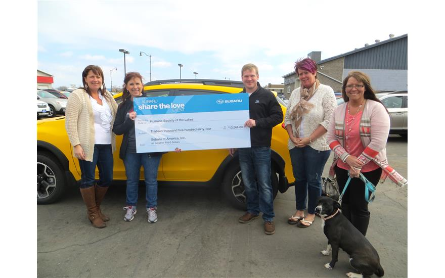 R&G Subaru supports Humane Society of the Lakes