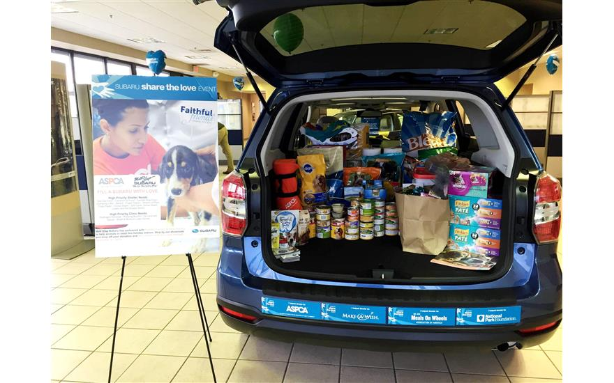 Fill a Subaru with Love Pet Supply Drive