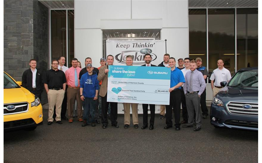 JENKINS SUBARU Supports the UNITED WAY OF HARRISON COUNTY