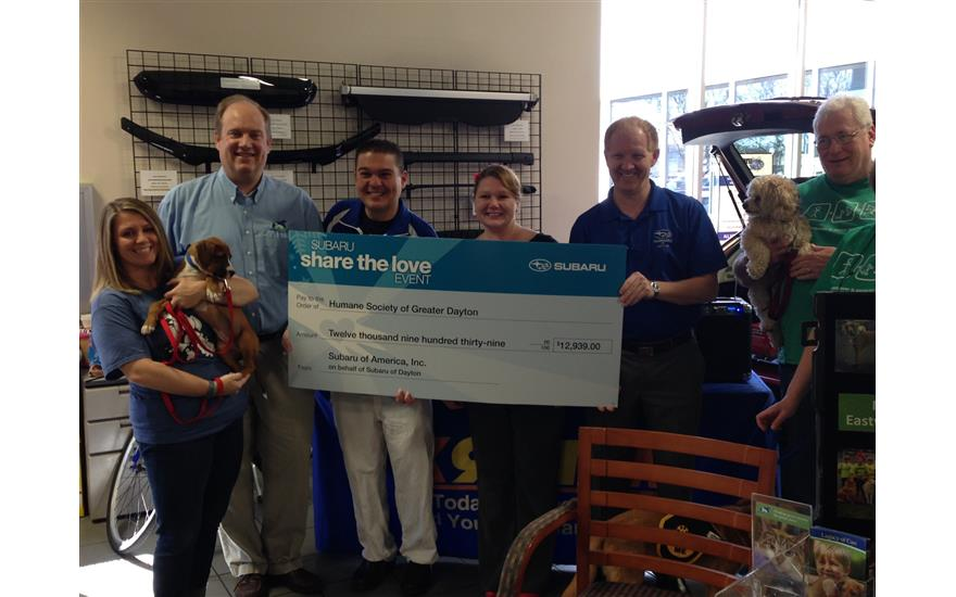 Subaru of Dayton Helps to Save Animals in Need
