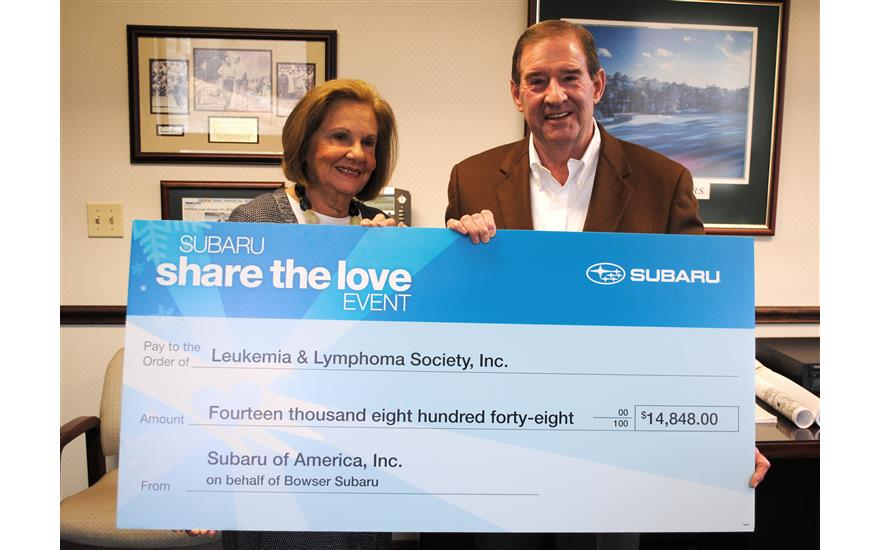 BOWSER SUBARU SHARE THE LOVE - Leukemia & Lymphoma