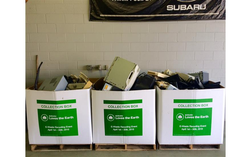 Anderson Subaru Collects 120+ cu.ft. of EWaste