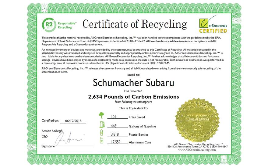 Subaru Loves the Earth - E-Waste Event