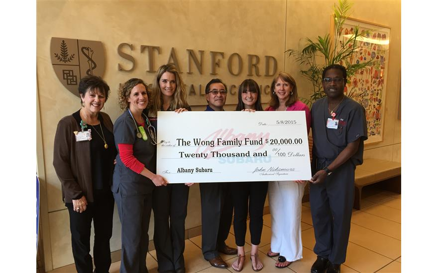 $20,000 donated to the Wong Family Fund