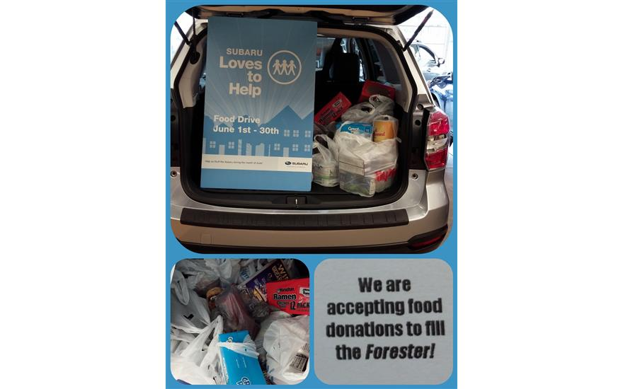 Stuff the Subaru-Fill the Forester Food Drive