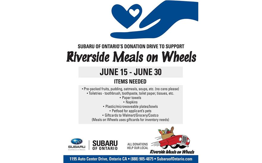 Meals on Wheels Community Drive