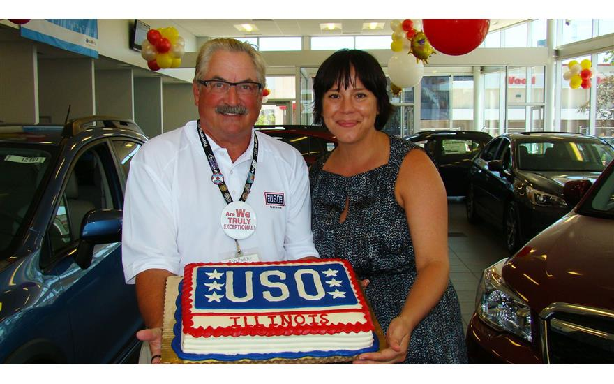 Evanston Subaru celebrates USO of Illinois month.