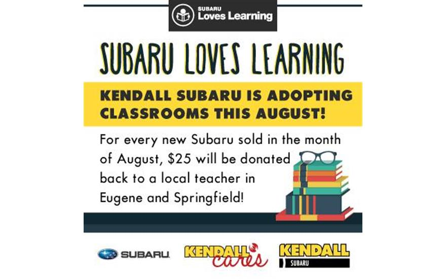 Kendall Subaru LOVES Learning!