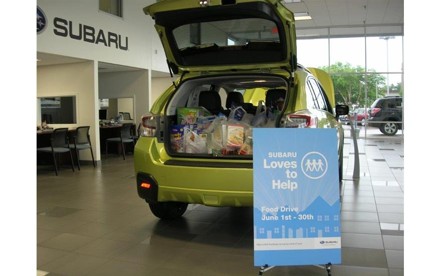 Stuff the Subaru Food Drive