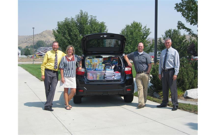 Larry H. Miller Subaru School Supply Drive