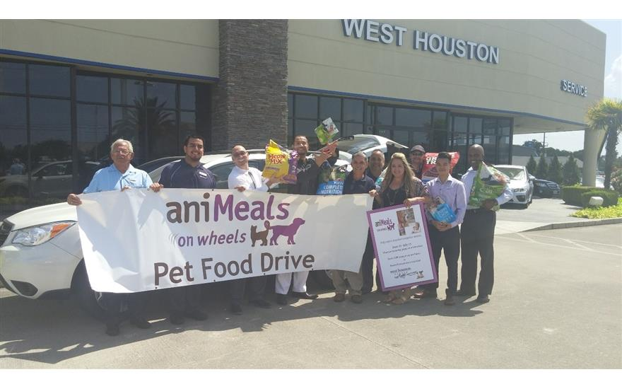 West Houston Subaru's caring hearts feed aniMeals!