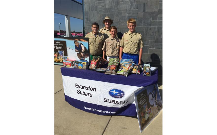 Boy Scouts Popcorn Sale at Evanston Subaru