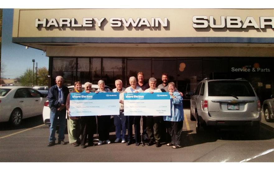 Harley Swain Contributes to Senior Center