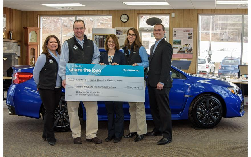 Subaru Shares the Love with Middlesex Hospital