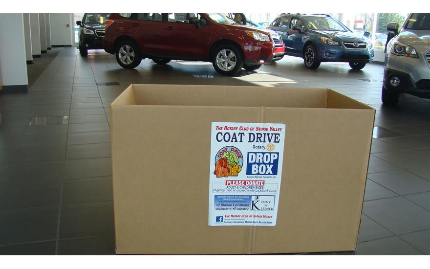 Rotary Coat Drive at Evanston Subaru